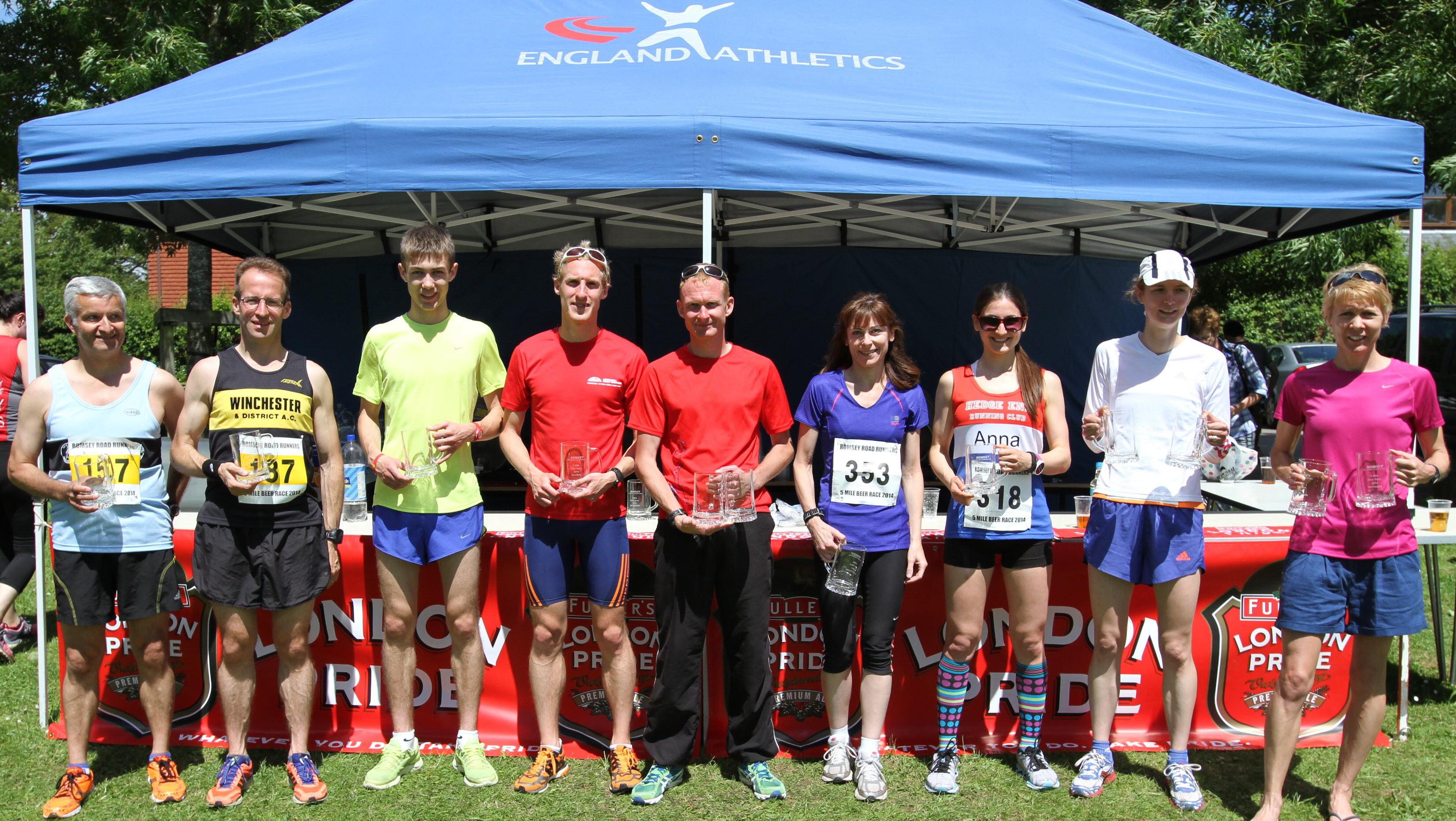 Beer Race Prize Winners 2014