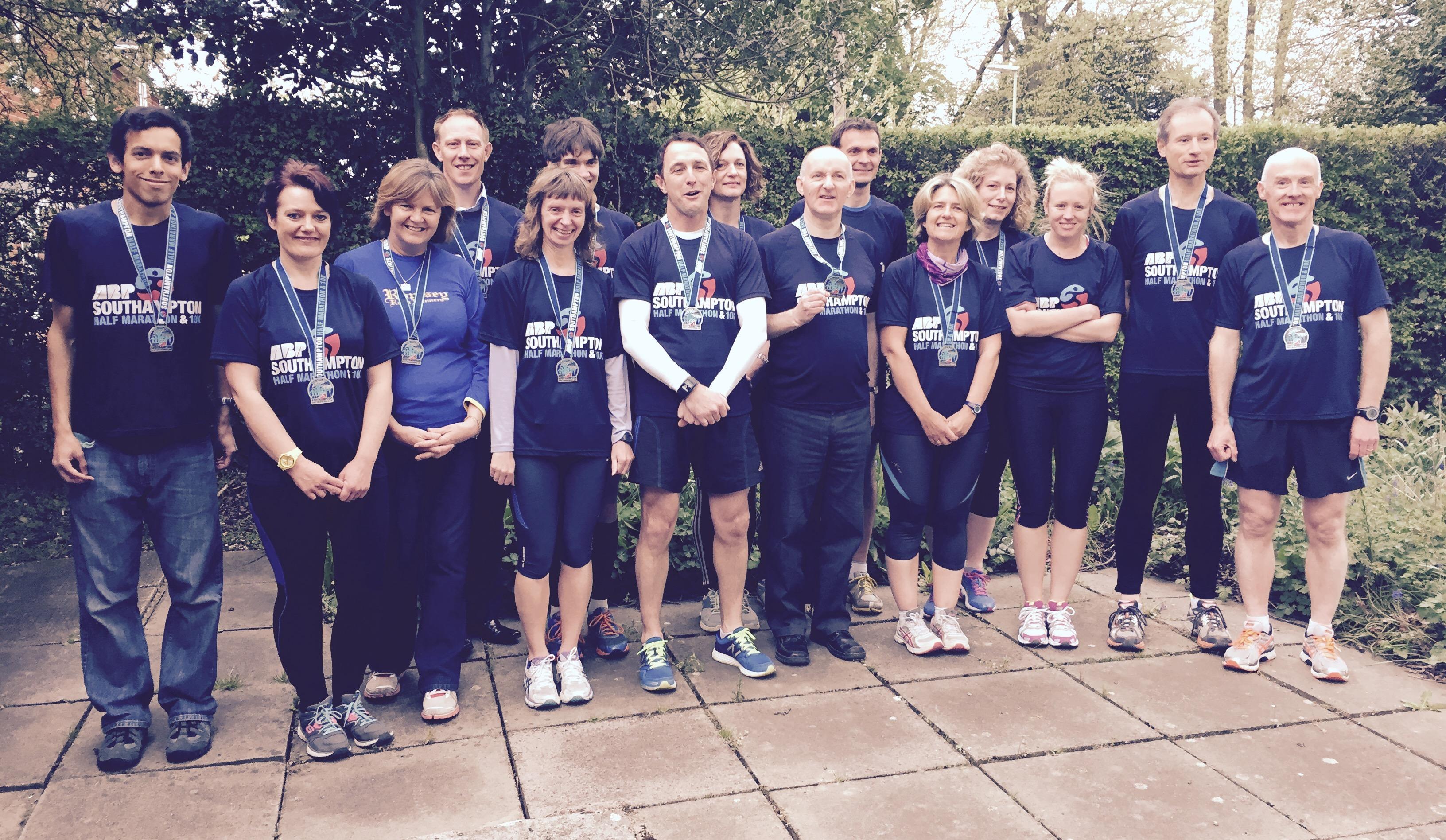RRR Southampton Half Marathon Finishers 2015
