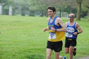 Neil on his way to a sub 3 hour run